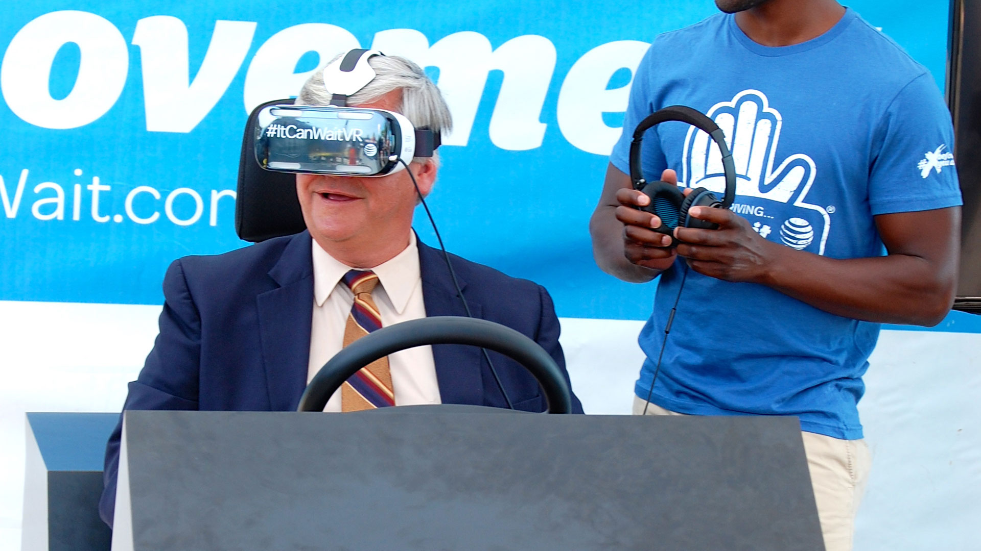 The AT&T VR Driving simulator.